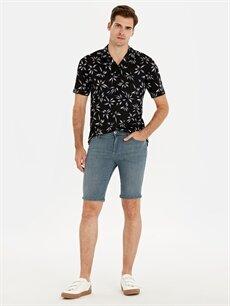 Gri Skinny Fit Bermuda Jean Şort 9SB899Z8 LC Waikiki