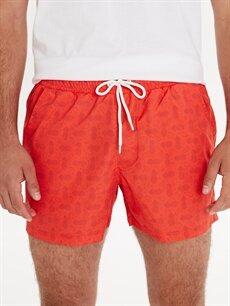Erkek Kısa Boy Baskılı Deniz Şortu