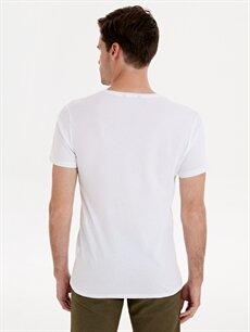 Erkek Baskılı Kısa Kollu Pamuklu Tişört
