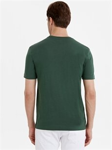 Erkek Bisiklet Yaka Pamuklu Basic Tişört