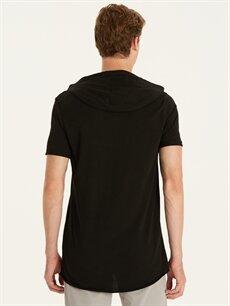 %100 Pamuk Düz Standart Kısa Kol Tişört Kapüşonlu Kapüşonlu Kısa Kollu Basic Tişört