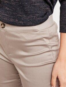 %68 Pamuk %28 Polyester %4 Elastan Bilek Boy Kumaş Pantolon