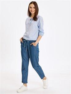 Mavi Beli Lastikli Slim Jean Pantolon 9S5930Z8 LC Waikiki