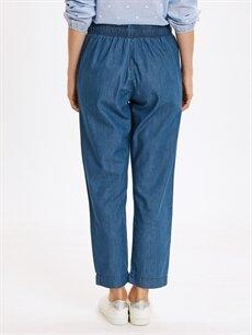 Kadın Beli Lastikli Slim Jean Pantolon