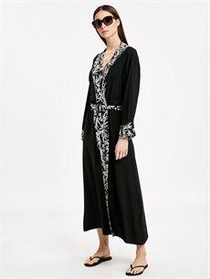 Siyah Desenli Kimono 9S7235Z8 LC Waikiki
