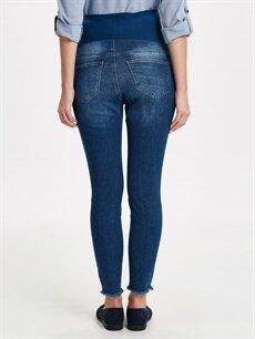 Kadın Sökük Detaylı Skinny Hamile Jean Pantolon