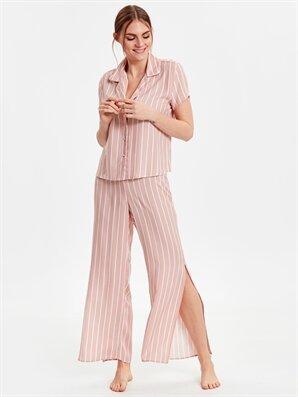 Çizgili Vual Pijama Takımı - LC WAIKIKI