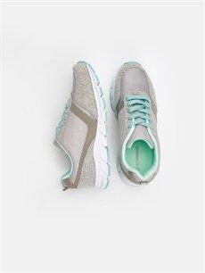 Tekstil malzemeleri Diğer malzeme (poliüretan) Tekstil malzemeleri Ayakkabı Kadın Bağcıklı Aktif Spor Ayakkabı