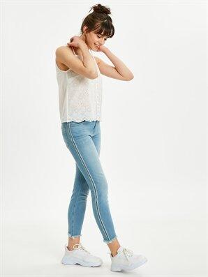 Şerit Detaylı Bilek Boy Skinny Jean Pantolon - LC WAIKIKI