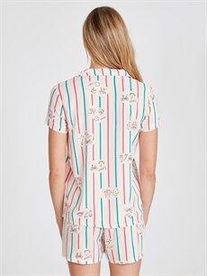 Kadın Baskılı Şortlu Pijama Takımı