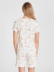Kadın Pamuklu Şortlu Pijama Takımı