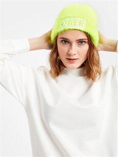 Kadın Neon Tüylü Bere
