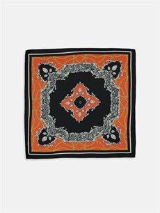 %100 Polyester  Desenli Fular