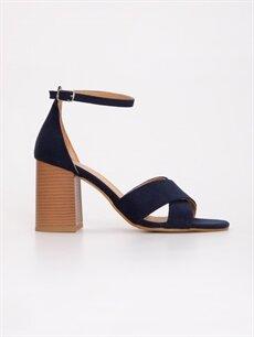 Lacivert Kadın Topuklu Ayakkabı 9SK371Z8 LC Waikiki