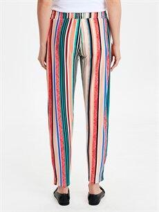 Kadın Çizgili Viskon Hamile Pantolon