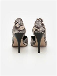 Kadın Yılan Derisi Desenli Topuklu Ayakkabı