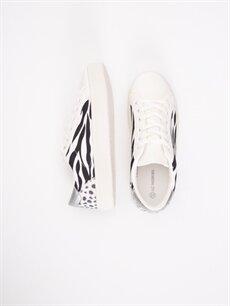 Tekstil malzemeleri Diğer malzeme (poliüretan) Tekstil malzemeleri Ayakkabı Kadın Desenli Bağcıklı Spor Ayakkabı