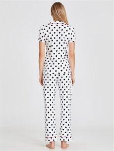 Kadın Betty Boop Baskılı Puantiyeli Pamuklu Pijama Takımı