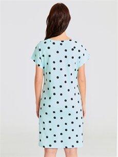 %100 Pamuk İç Giyim Puantiyeli Pamuklu Hamile Gecelik