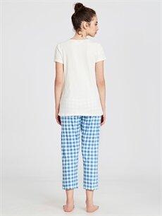 Kadın Pamuklu Ekose Pijama Takımı