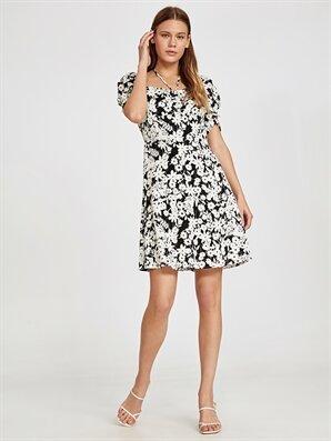 f03f03be6238c Kısa Kollu Elbise - Kısa Kollu Elbise Modelleri - LC Waikiki