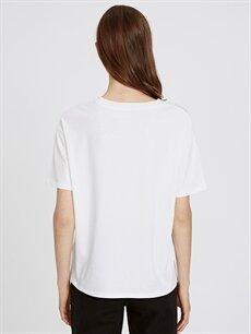 Kadın Baskılı Pamuklu Tişört