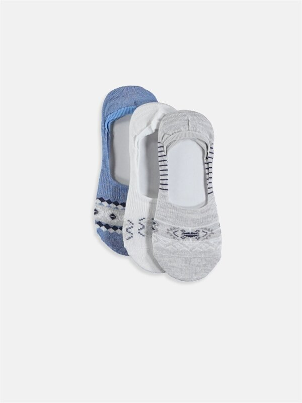Desenli Patik Çorap 3'lü - LC WAIKIKI