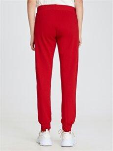 %42 Pamuk %58 Polyester Kırmızı Pantolon