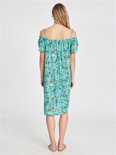 Kadın Yakası Fırfırlı Viskon Hamile Elbise
