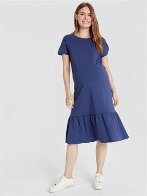 Fırfır Detaylı Pamuklu Hamile Elbise - LC WAIKIKI