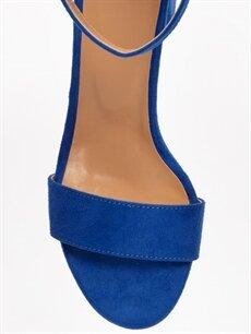 LC Waikiki Mavi Kadın Süet Görünümlü Topuklu Ayakkabı