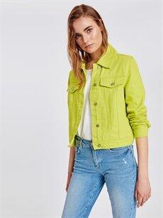 %100 Pamuk Kısa Ceket Renkli Jean Ceket