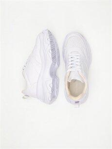 Diğer malzeme (poliüretan) Tekstil malzemeleri Ayakkabı Kadın Kalın Taban Spor Ayakkabı