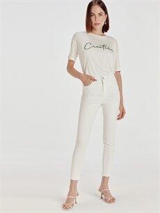 Beyaz Bilek Boy Skinny Jean Pantolon 9SU095Z8 LC Waikiki