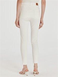 %97 Pamuk %3 Elastan Bilek Boy Skinny Jean Pantolon