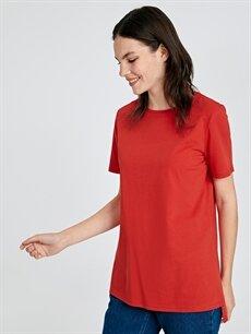Kırmızı Pamuklu Düz Basic Tişört 9SU225Z8 LC Waikiki