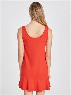 Kadın Kolsuz Viskon Kloş Elbise