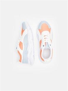 Tekstil malzemeleri Diğer malzeme (poliüretan) Tekstil malzemeleri Ayakkabı Kadın Bağcıklı Günlük Spor Ayakkabı