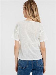 Kadın Yakası Dantelli V Yaka Bluz