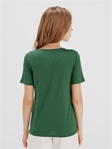 Kadın Düz Pamuklu Tişört