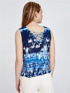 Kadın Batik Desenli Viskon Bluz