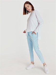 %88 Polyester %12 Elastan Standart Beli Lastikli Boyfriend Pantolon