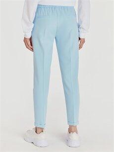 %88 Polyester %12 Elastan Beli Lastikli Boyfriend Pantolon