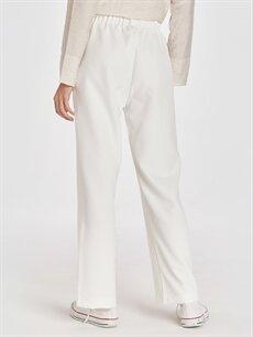%87 Polyester %13 Elastan Beli Lastikli Salaş Pantolon