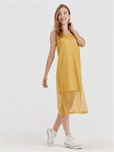 Sarı File Elbise 9SV610Z8 LC Waikiki