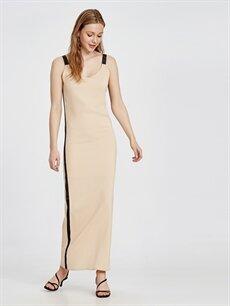 %1 Elastan %99 Viskon %100 Polyester  Yanları Şeritli Poplin Elbise