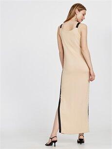 Kadın Yanları Şeritli Poplin Elbise