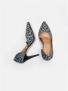 Tekstil malzemeleri Diğer malzeme (poliüretan)  Kadın Leopar Desenli Stiletto Ayakkabı