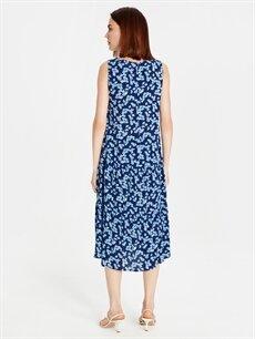 Kadın Çiçekli Viskon Elbise