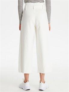Kadın Kendinden Kemerli Yüksek Bel Jean Pantolon